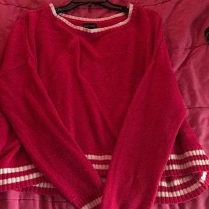 Red and White Varsity Sweater WetSeal Size L